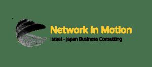 logo negative network in motion